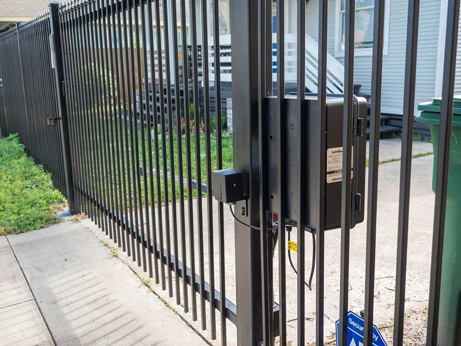 Commercial Security Gates Houston Aber Fence